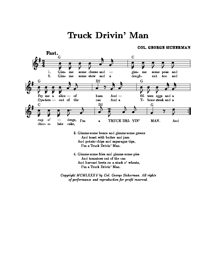 The colonels music 1 truck drivin man in the best oral tradition png altavistaventures Choice Image