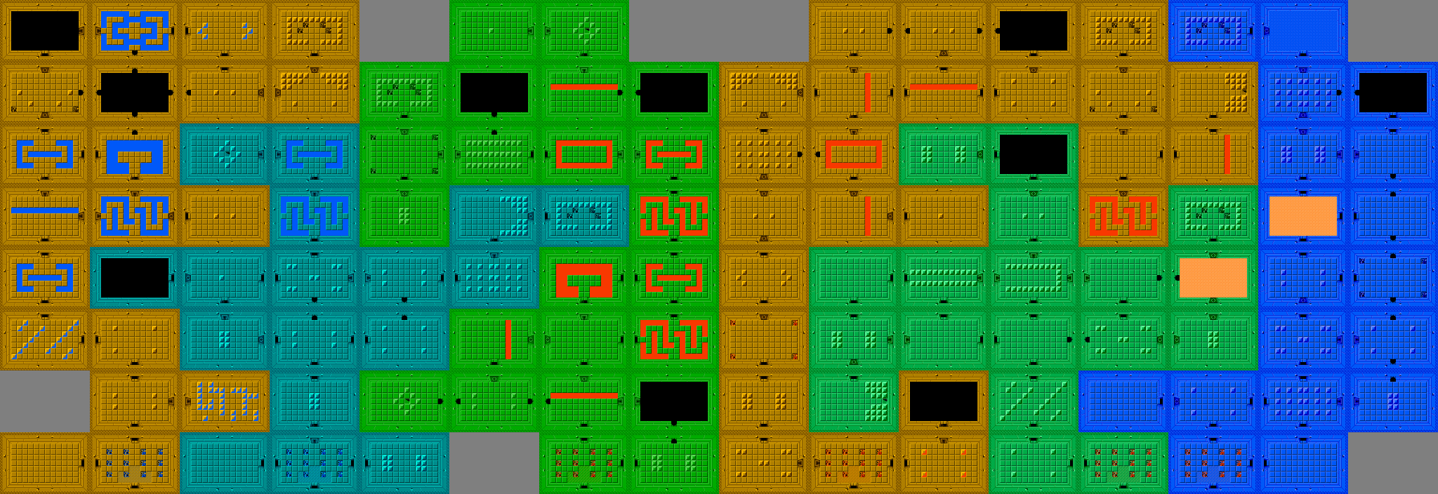 Crude ASCII Maps: Legend of Zelda
